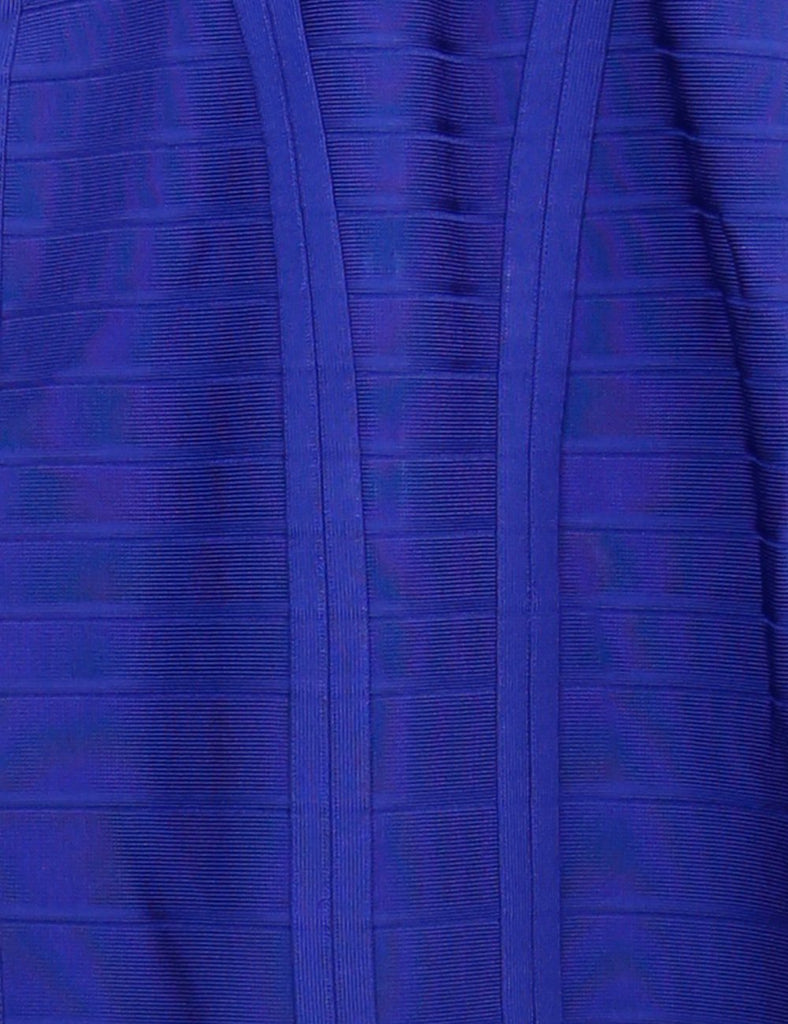 Herve Leger blue Layton bandage dress 10 Uk- My Wardrobe Mistakes