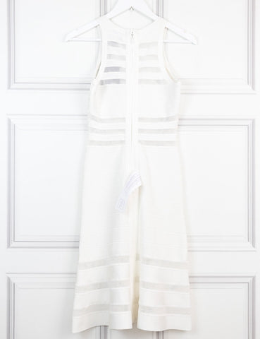 Herve Leger white Mermaid dress 10Uk- My Wardrobe Mistakes