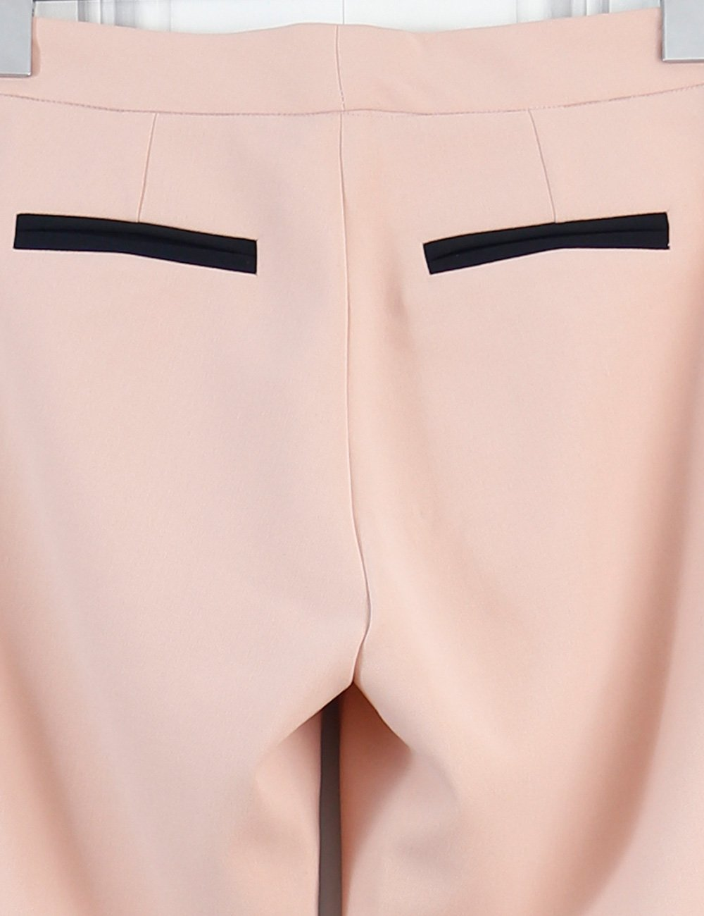 Hoss Intropia pink tailored trousers with contrasting black piping and ankle zips 6Uk  Edit alt text