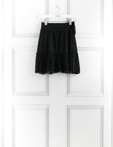 Isabel Marant black short elasticised skirt 10UK- My Wardrobe Mistakes