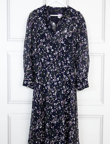 Isabel Marant multicolour Maxene floral silk maxi dress 12 Uk- My Wardrobe Mistakes