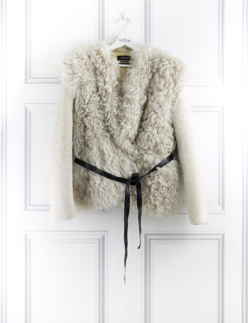 ISABEL MARANT CLOTHING Drew Belted Shearling Jacket