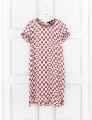 ISABEL MARANT CLOTHING Mallonia beaded crepe mini dress 10UK- My Wardrobe Mistakes