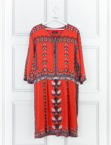 ISABEL MARANT CLOTHING Multicoloured short sleeved sully printed dress- My Wardrobe Mistakes