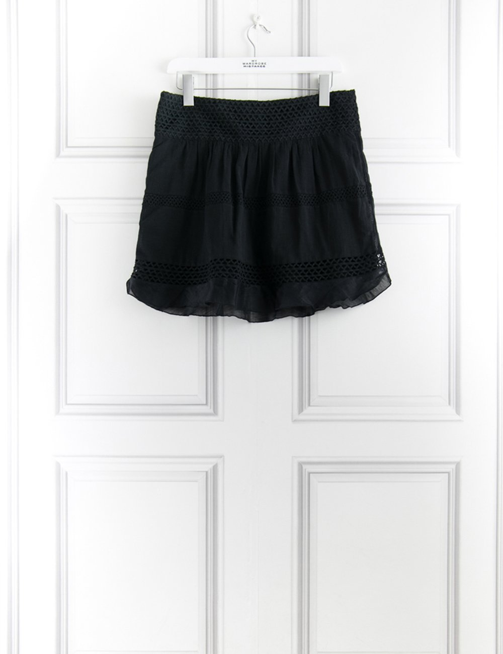 ISABEL MARANT CLOTHING Short cotton skirt 10UK- My Wardrobe Mistakes