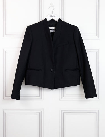 Isabel Marant Etoile black short woollen jacket with single button 10UK- My Wardrobe Mistakes