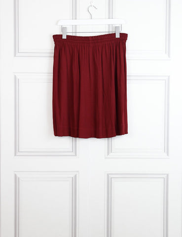 Isabel Marant Etoile burgundy Lewis skirt 12UK- My Wardrobe Mistakes