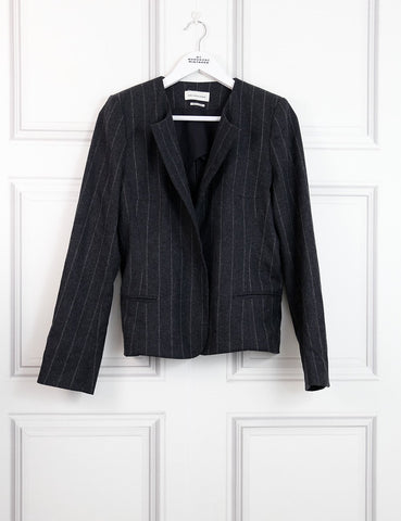 Isabel Marant Etoile multicolour collarless pinstripe jacket 12UK- My Wardrobe Mistakes