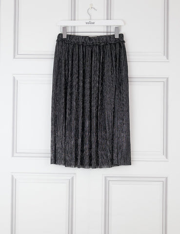 ISABEL MARANT ETOILE CLOTHING 8UK-40IT-36FR / Gunmetal ISABEL MARANT ETOILE Beatrice Lamé pleated midi skirt