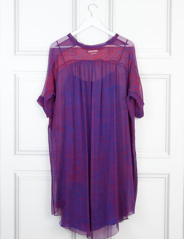 ISABEL MARANT ETOILE multicolour Belted t-shirt dress 8Uk- My Wardrobe Mistakes