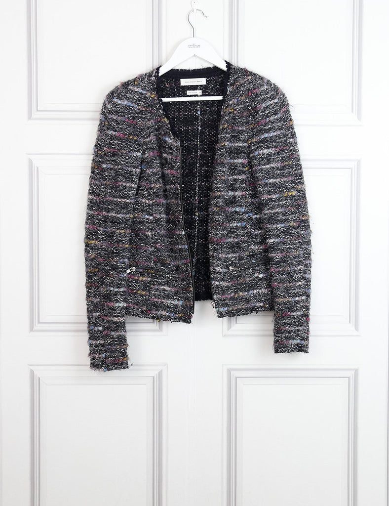 Isabel Marant Etoile multicolour tweed jacket Momo Burgundy 10UK- My Wardrobe Mistakes