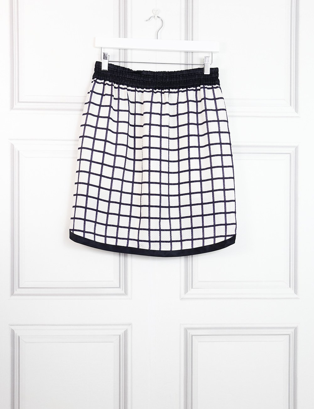 Isabel Marant Etoile multicolour elastic silk skirt with check print 10UK- My Wardrobe Mistakes