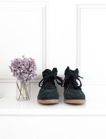Isabel Marant black Bobby wedge sneakers 7Uk- My Wardrobe Mistakes