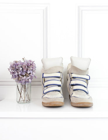 Isabel Marant multicolour Bekett suede wedge sneakers 7Uk- My Wardrobe Mistakes