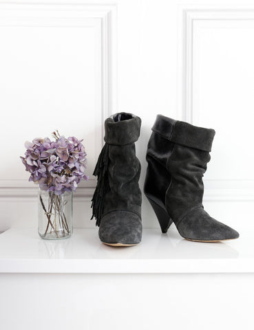 Isabel Marant for H&M multicolour fringed ankle boots in suede and leather 4 Uk- My Wardrobe Mistakes