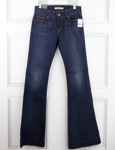 J Brand navy blue flared jeans 10UK- My Wardrobe Mistakes