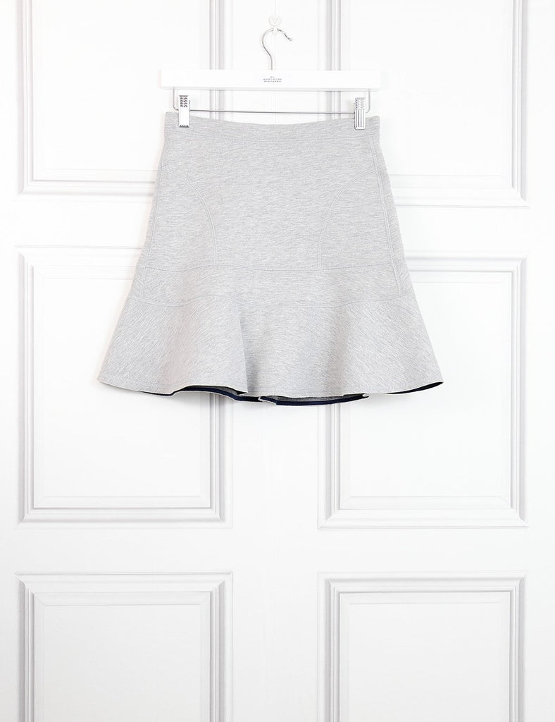 J Crew grey neoprene flared mini skirt 6UK- My Wardrobe Mistakes