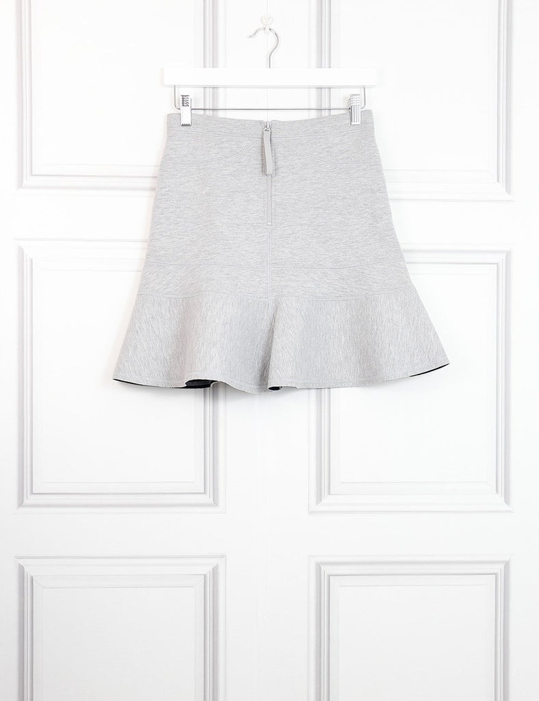 J Crew grey neoprene flared mini skirt 6UK- My Wardrobe Mistakes  Edit alt text