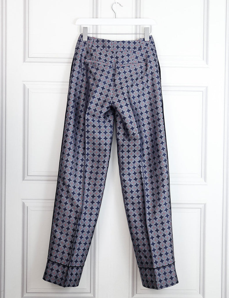 J Crew Collection silk printed trousers 6Uk- My Wardrobe Mistakes