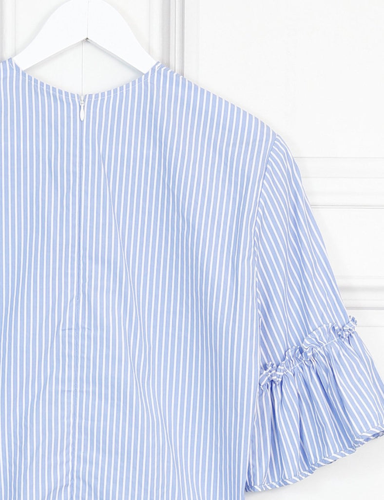 J W Anderson multicolour striped blouse with 3/4 bell sleeves 6Uk- My Wardrobe Mistakes