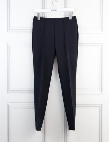 Jason Wu black stretch cotton blend slim leg pants 6Uk