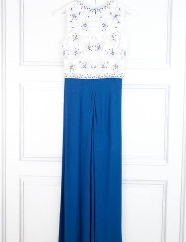 Jenny Packham full length bicolour dress with embroidered top 10Uk- My Wardrobe Mistakes