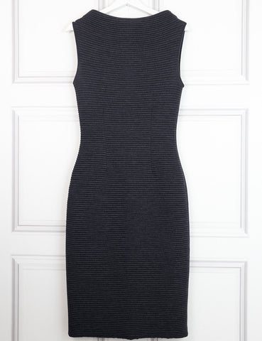 Jil Sander grey sleeveless woollen fitted dress 8UK- My Wardrobe Mistakes