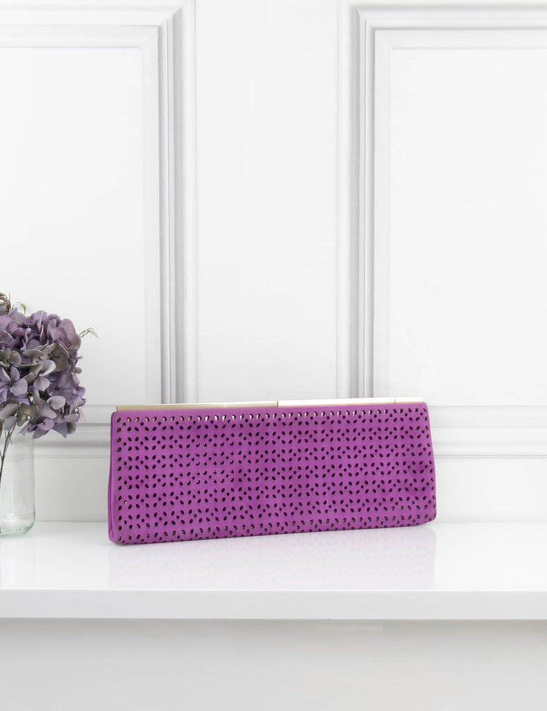 JIMMY CHOO BAGS Purple clutch bag- My Wardrobe Mistakes