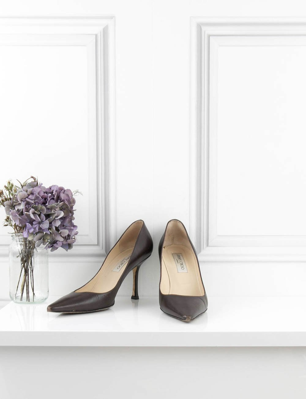JIMMY CHOO SHOES Classic pointy Pump brown 6UK- My Wardrobe Mistakes