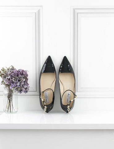 JIMMY CHOO SHOES Devise handcuff patented flats black 6UK- My Wardrobe Mistakes