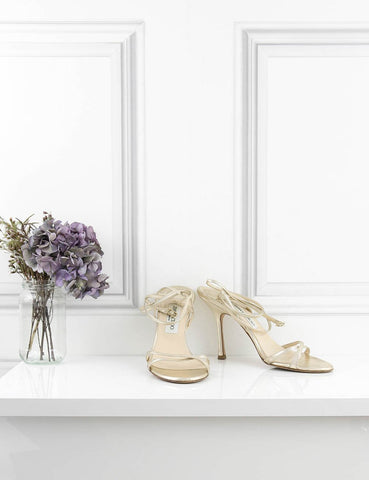JIMMY CHOO SHOES gold Open-toe sandals 6.5UK- My Wardrobe Mistakes