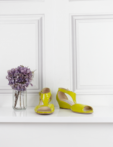 JIMMY CHOO SHOES lime Open-toe sandals 6Uk- My Wardrobe Mistakes