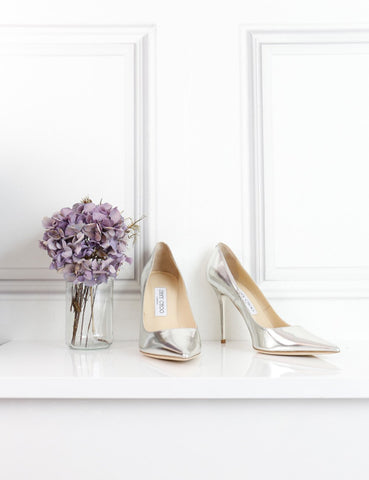 Jimmy Choo silver Abel pointed toe pumps 5UK- My Wardrobe Mistakes