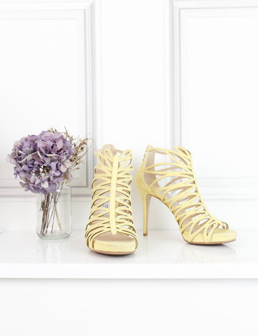 Jimmy Choo yellow Kera bootie 5UK- My Wardrobe Mistakes