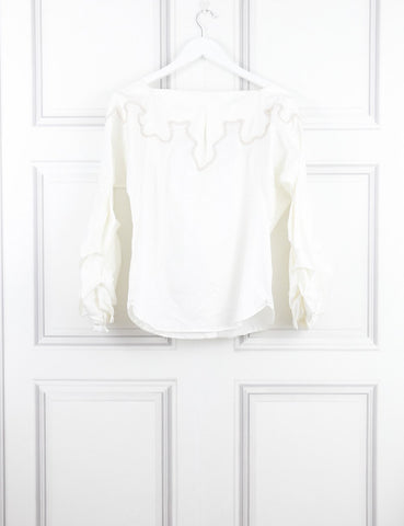 Johanna Ortiz white blouse 8UK- My Wardrobe Mistakes