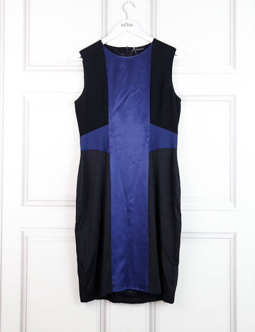 Jonathan Saunders multicolour sleeveless fitted dress with silk panels 10 Uk- My Wardrobe Mistakes