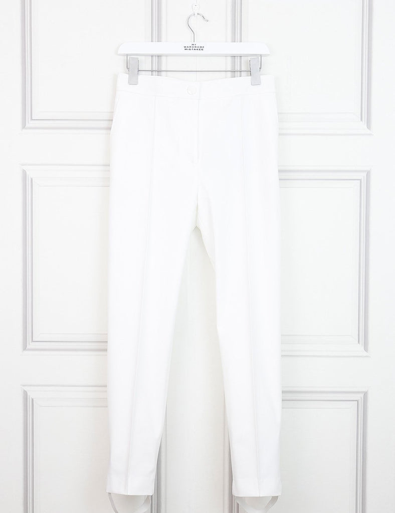 Joseph white Juno drill stretch trousers 8Uk- My Wardrobe Mistakes