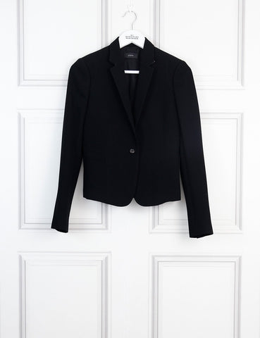 Joseph black tailored jacket with contrasted neckline 8UK- My Wardrobe Mistakes
