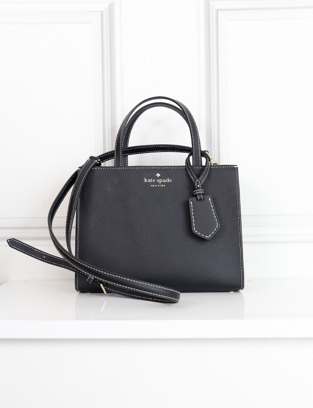 Kate Spade black tote bag with shoulder strap- My Wardrobe Mistakes