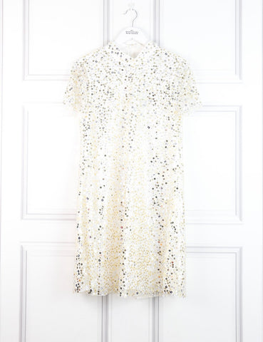 Kate Spade gold sequinned dress 10 Uk- My Wardrobe Mistakes
