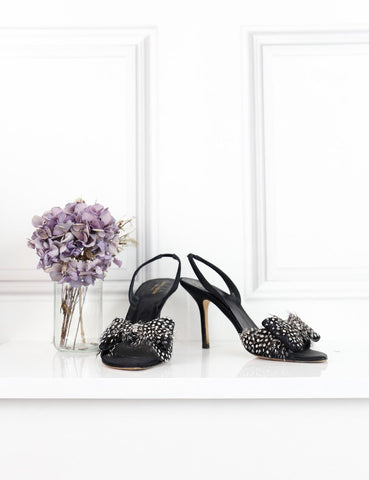 Kate Spade multicolour open toe sandals with feathers and jewel embellishment 7UK- My Wardrobe Mistakes