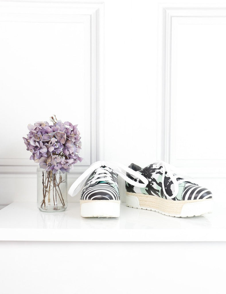 Kenzo multicolour palms and stripes print platform sneakers 2 Uk- My Wardrobe Mistakes