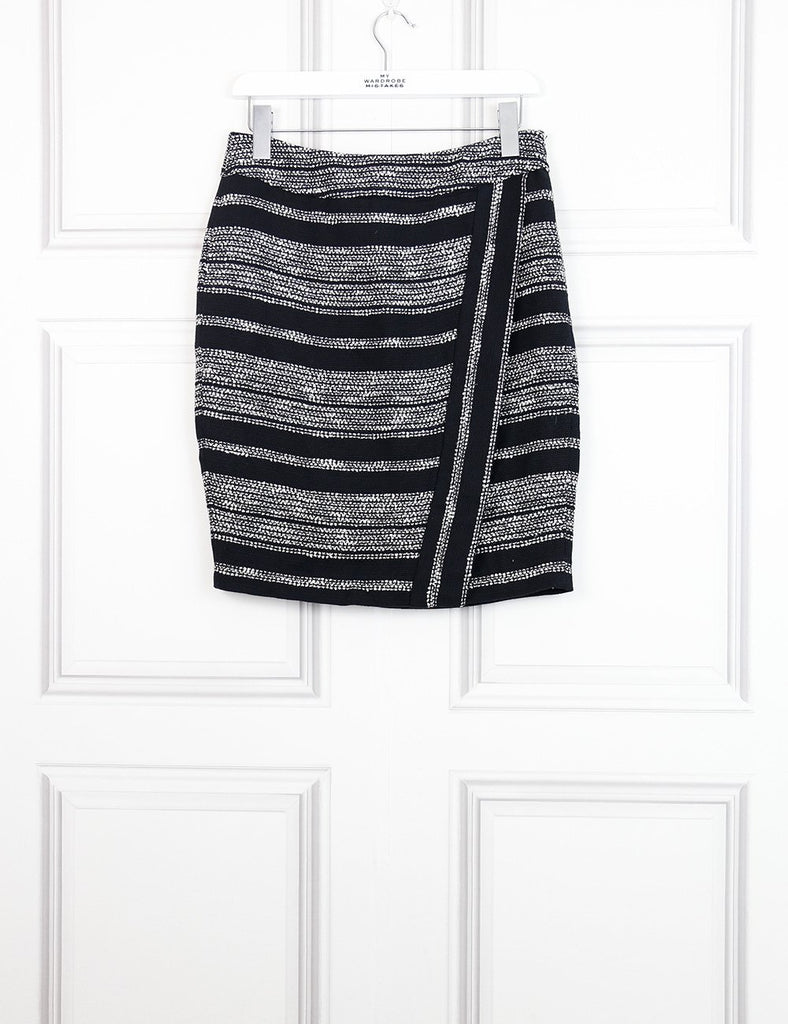 L'Agence multicolour striped mid-length wrap skirt 12 UK- My Wardrobe Mistakes