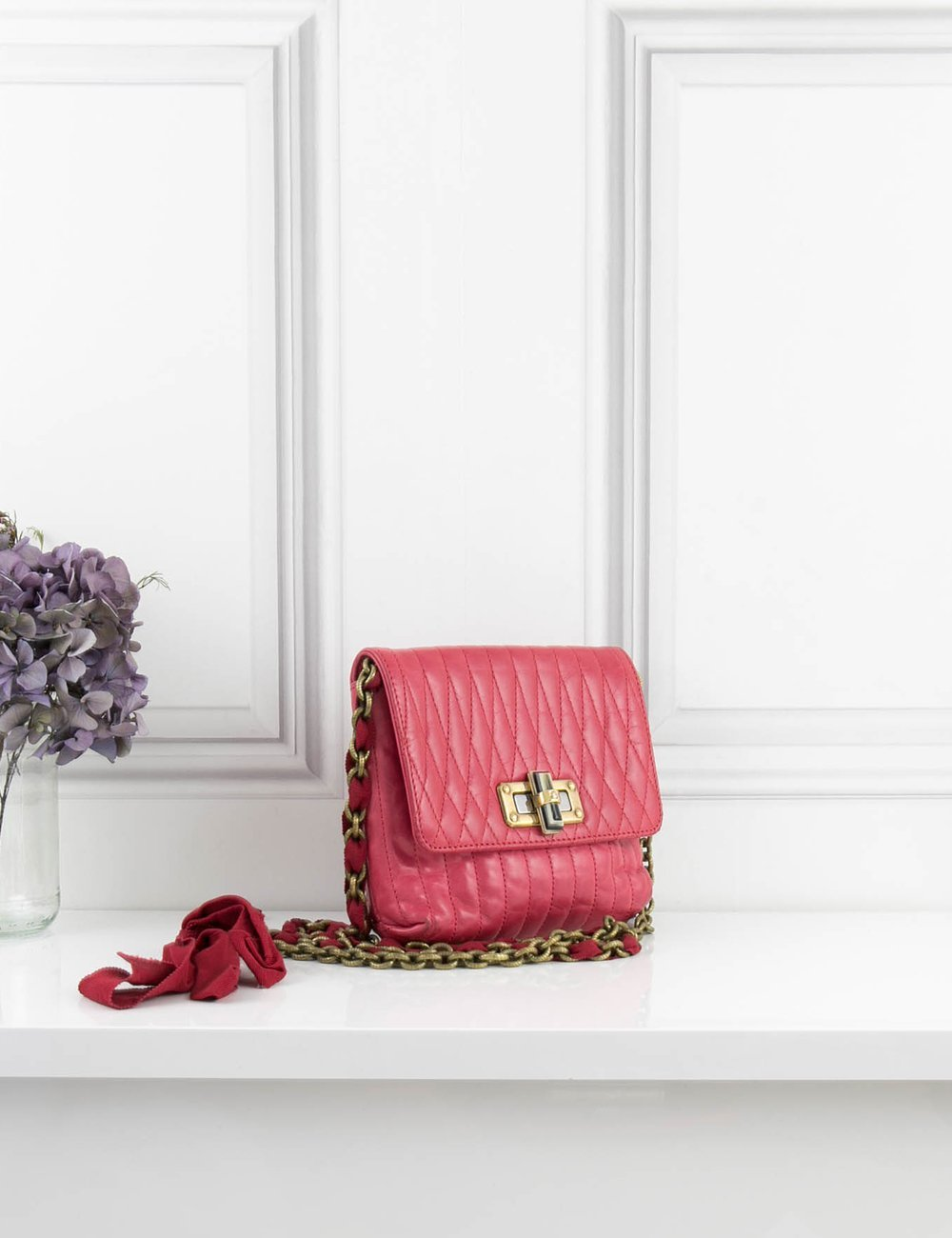 LANVIN BAGS Small pink cross body bag- My Wardrobe Mistakes
