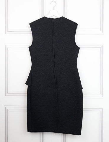 Lanvin dark grey sleeveless peplum dress 12UK- My Wardrobe Mistakes