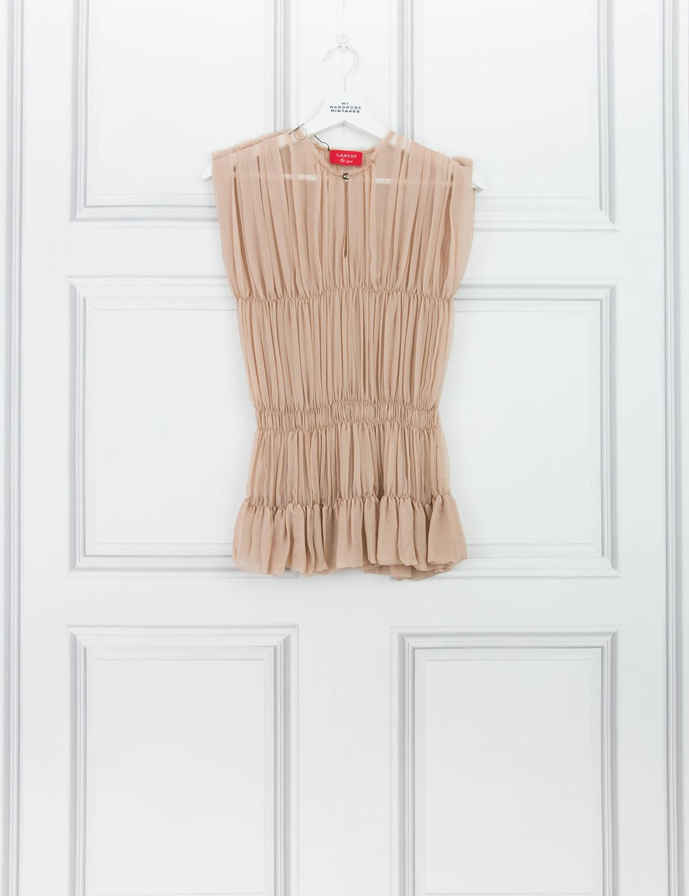LANVIN CLOTHING Pale pleated silk top 10UK- My Wardrobe Mistakes