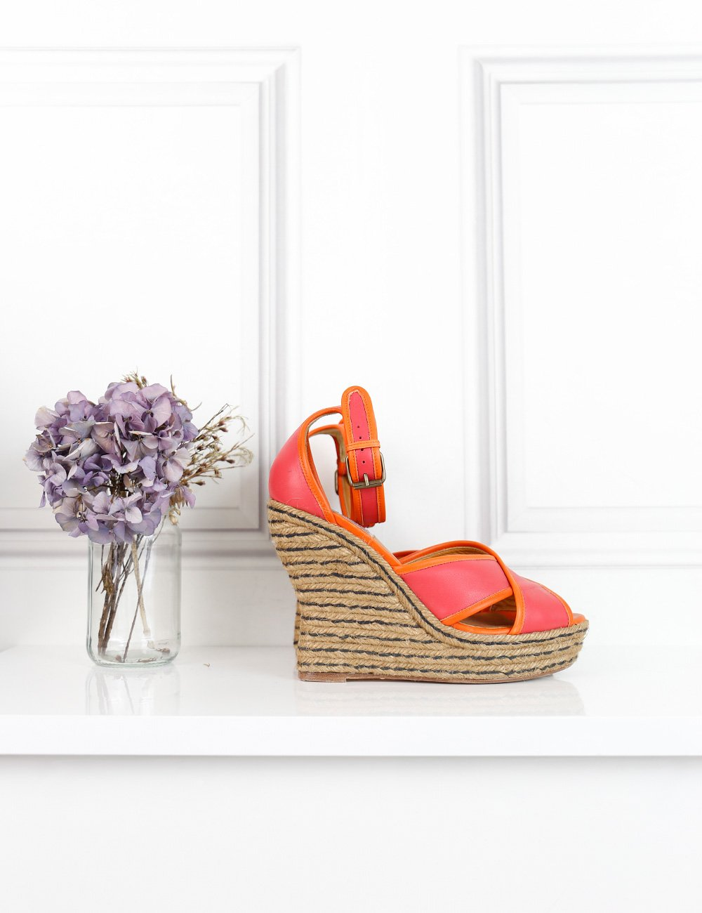 Lanvin multicolour leather bicolour wedges 6Uk- My Wardrobe Mistakes