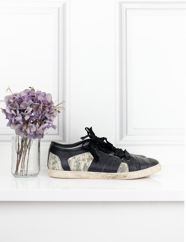 LANVIN SHOES Sneakers with ribbon laces
