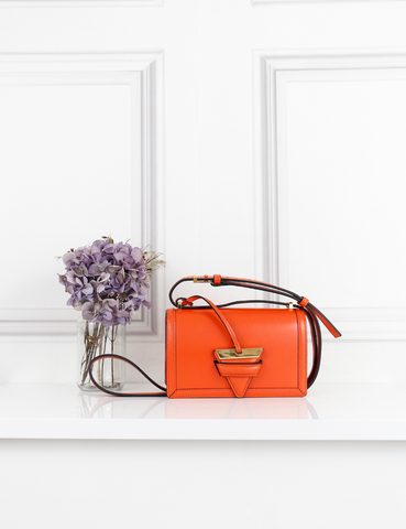 LOEWE BAGS orange Barcelona bag- My Wardrobe Mistakes