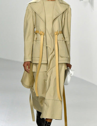 Loewe beige asymmetric hem trench coat 4UK-My Wardrobe Mistakes